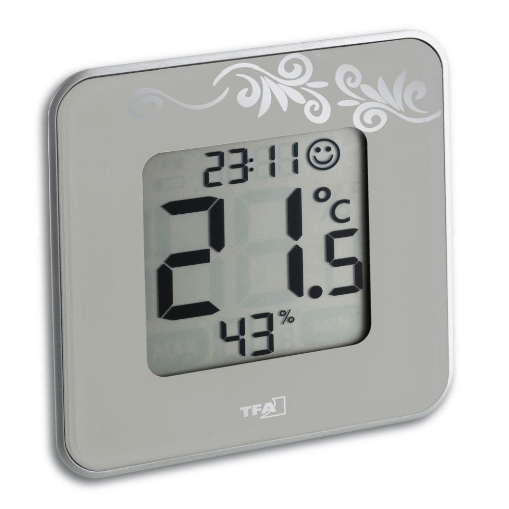 Termometru si Higrometru digital de camera STYLE gri TFA 30.5021.02