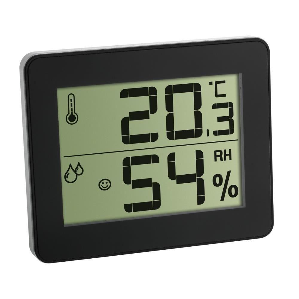 Termometru si Higrometru digital de camera extra-plat negru TFA 30.5027.01