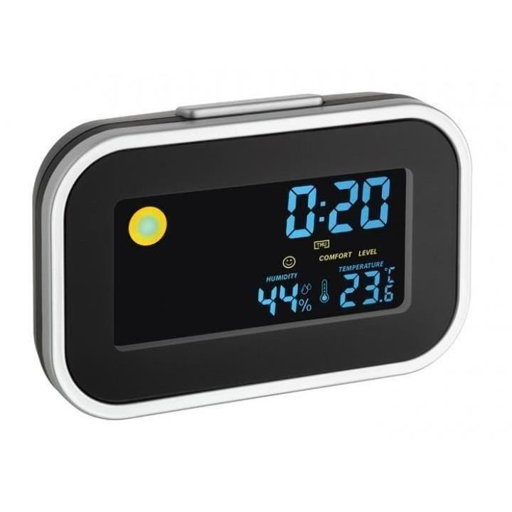 Termo-higrometru cu ceas si alarma TFA 60.2015